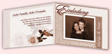 Wir kümmern uns um Design & Druck und gestalten Ihre Einladungskarten ...