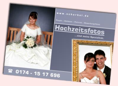 Visitenkarten Flyers Website Für Fotograf Scharbel Aus